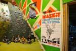 Maskot Friluftsfestival og buldrejam i hallen